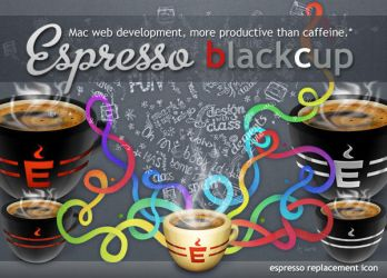 Espresso black cup by Gpopper