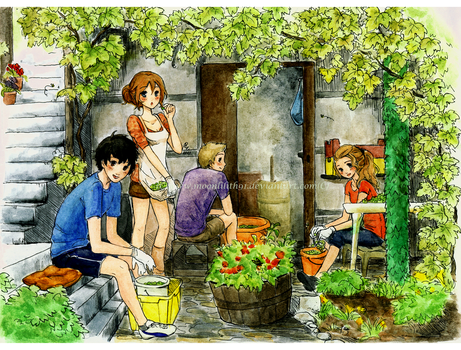 Grape picking by Moonlilith91