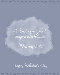 Valentine's Day Card: OTP by OtterAndTerrier