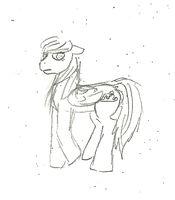 Unnamed pony OC by MoonGazerThePony