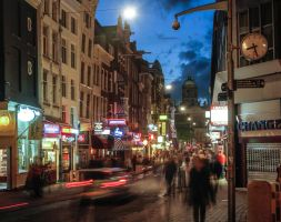 Night Street, Amsterdam by BusterBrownBB