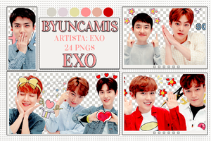 [PNG PACK #402] EXO - (Kakao Talk Stickers) by fairyixing