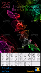 Clear Smoke Hi-Res Brushes by brightworld