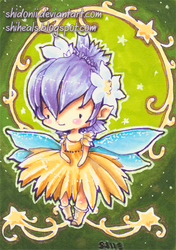 Little Faerie ACEO ATC by shidonii