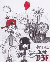Happy B-day JustD3F!! by XenoTeeth3