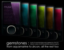 Zune Backgrounds: Gemstones by p3p574r