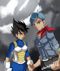 Gender bender trunks and vegeta by Sandra-delaIglesia