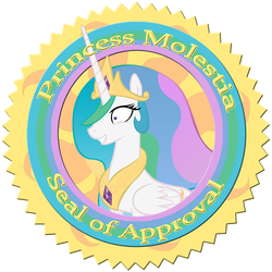 Princess Molestia Seal of Approval by Pablo09042