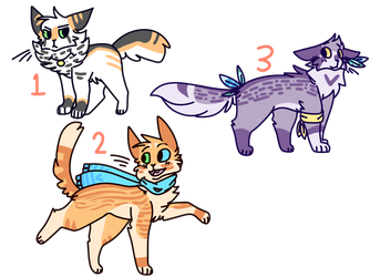 Cat Adoptables! [ CLOSED ] by TangerineAdopts