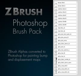 Zbrush Alpha Photoshop Brush Pack by GWiebe