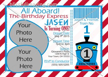 Thomas the TRAIN Invite by BlissfuLLimaging