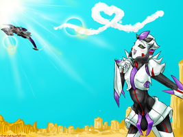 COM.:Skydust And Megatron:. by XD-or-what