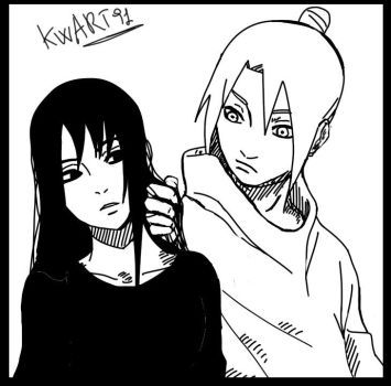 Anzu Uchiha and Shinachiku Uzumaki by Kwon9106