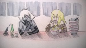 Inktober Sketch Day 4: Hungry by TheGraffitiSoul