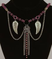 Free Flight Viking knit Chainmaille Necklace by ArmouredWolf907