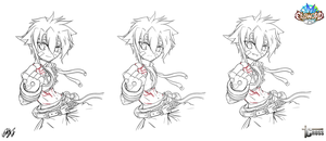 [Elsword RPs] Cross - Lineart testing - by ClairSH