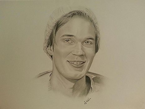 PewDiePie Portrait Finished (7 days of work) by CroixArt