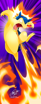 Leaping Fire: Typhlosion by super-tuler