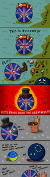 Britain Ball Has Had Enough by 1gga