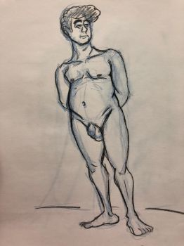 Life Drawing 4-17-18 7 by NWolfman