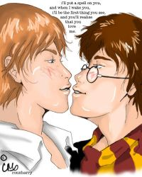 Ron+Harry by Plagued-Memories