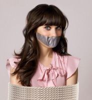 Zooey Deschanel Rope Tied Tape Gagged by Goldy0123