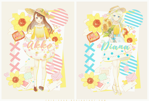 [ Diana x Akko ] Flowers of Summer by Fris-chan