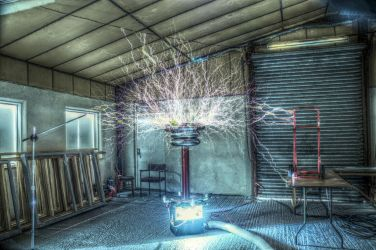 Tesla Coil 1 - HDR by teslaextreme