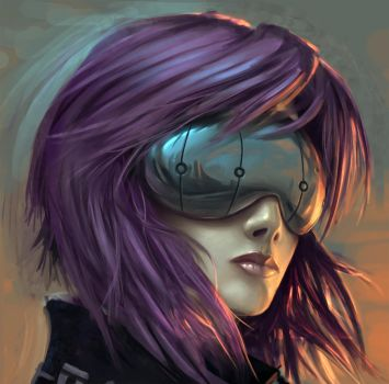 Motoko Close-up by arcipello