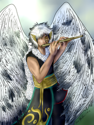 A little piece of home (OC - Atlas Icarus) by thebadgerfoxdraws