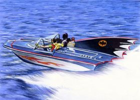The Batboat 1966 by veripwolf
