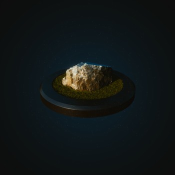 3D Scanned Rock by blenderednelb