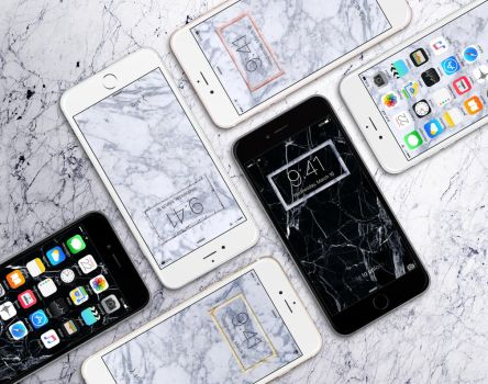 Marble iPhone Wallpapers by JasonZigrino