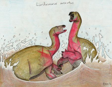 Draw Dinovember day 9 ~ Lurdusaurus arenatus by Pterosaur-Freak