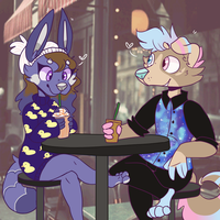 Coffee Date (REDRAW) by OrangeJuicee