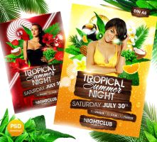 Tropical Summer Night Flyer by Party-Flyer