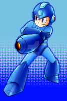 Newcomer - Megaman by AndrewMartinD