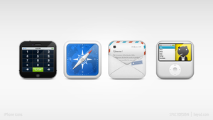 iPhone dock icon set by hehedavid