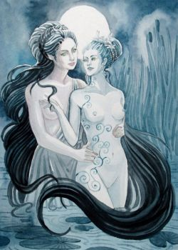 Diana and her Nymph by yanadhyana