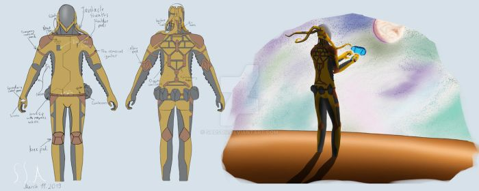 The Cosmic Armor (Type P1) by sabson
