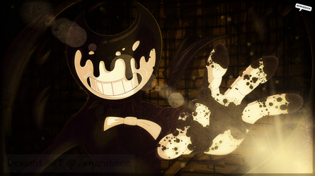 BATIM - I summon you, Ink Demon! .:Collab:. by Amanddica