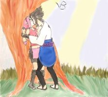 Sasuke Sakura - Tree Kiss by vbsuper-sama