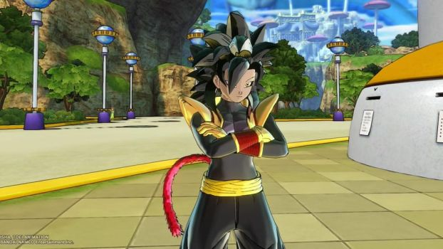 Dragon Ball Xenoverse 2: SSJ4 Zalika by DarkSamurai19