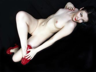 McKenzie New Red Shoes No. 3 by Snapfoto