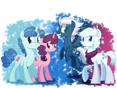 Four Heroes in the Village by Yaaaco17