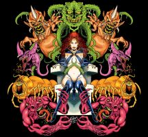 Goblin Queen Symmetry Colors by RobertDanielRyan