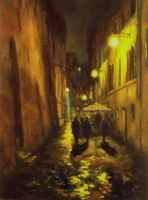 Back Streets of Rome -Painting by AstridBruning