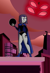 Commission - Raven in DP Style by AllyPhantomRush