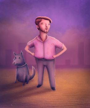 Man And His Dog by Oganso