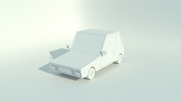 Cartoon Car WIP by blenderednelb